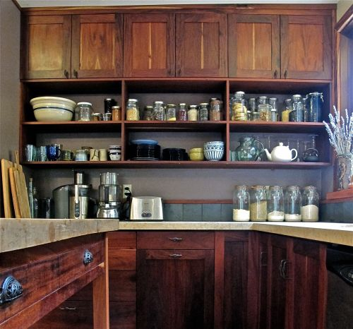 San Geronimo Valley Kitchen - Cuban Mahogany we've had in out woodshed for over 40 years.
